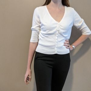 cAbi cardigan sweater white button up